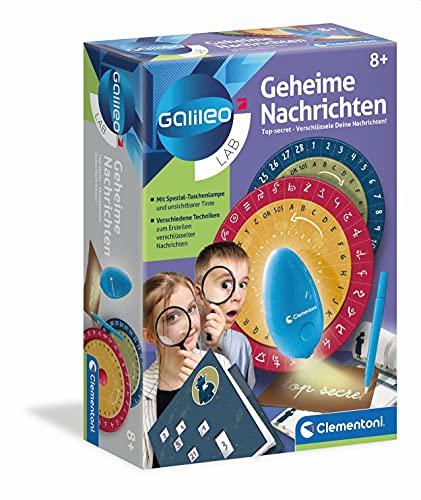 Clementoni 59222 Galileo Lab – Geheime Nachrichten, Detektivspiel für kleine Ermittler, verschlüsseltes Notizbuch, magisches Schreiben & Zeichnen für Kinder ab 8 Jahren