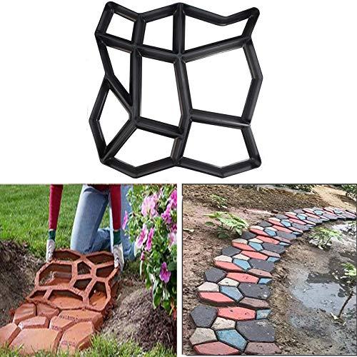 Amon Tech Walk Maker DIY Path Maker Molds 17.1 x 17.1 Inch Reusable Concrete Stepping Stone Molds for Garden Patio Yard Concrete Walk Maker