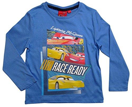 Cars Disney 3 Kollektion 2017 Langarmshirt 92 98 104 110 116 122 128 Shirt Cruz Ramirez Lightning McQueen Blau (92-98, Blau)