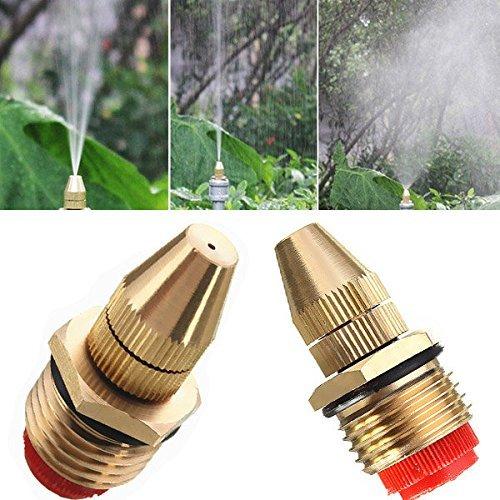 2 Pcs 1/2' (DN15) in ottone regolabile spray ugello nebulizzatore acqua tubo connettore per giardinaggio e agricoltura