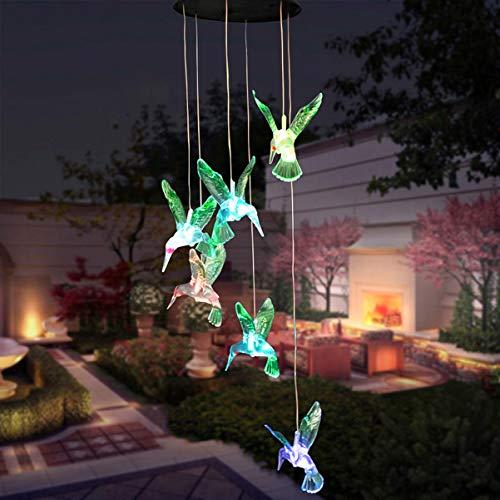 Mobestech Mobestech Zonne-Energie Windgong Kleur Veranderende Led-Lampen Waterdichte Led-Licht Kolibrie Zonne-Energie Lamp Voor Home Party Tuin Decor