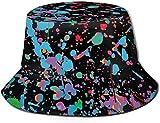 BONRI Cappelli da Pescatore Traspiranti a sommità Piatta Cappello da Pescatore Estivo Tirannosauro Colore Cartone Animato Unisex