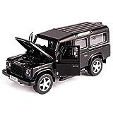Zixin 1/32 Modèle Toy Voiture for Land Rover Defender en Alliage modèle de Voiture acousto-Optique Pull-Back Car Toy-tchèque Republic_Black