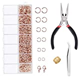 EuTengHao 1504pcs Open Jump Ring and Lobster Clasps Jewelry Repair Tools Jewelry Making Supplies Kit with...
