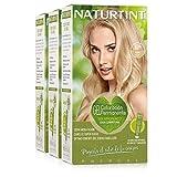 Naturtint Coloración 10N Rubio Alba | Tinte sin Amoniaco | 100% Cobertura de Canas e Hidratación | Ingredientes y Aceites Vegetales | Color Natural y Duradero | Pack de 3.