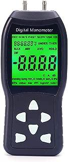 Digital Manometer, Professional Air Pressure Meter, Differential Pressure Gauge HVAC Gas Pressure Tester (Measuring Range: ±20.68 kPa)
