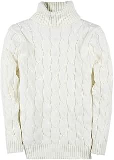 Men's Knit Cable Turtleneck Sweater