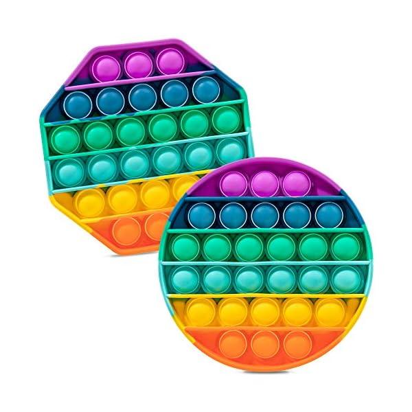 iBaste 2-PCS Push & Pop Pop Bubble Sensory Fidget Toys for Kids and Adults,...