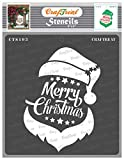 CrafTreat Santa Stencils for Painting on Wood, Canvas, Paper, Fabric, Floor, Wall and Tile - Santa Christmas - 6x6 Inches - Reusable DIY Art and Craft Stencils