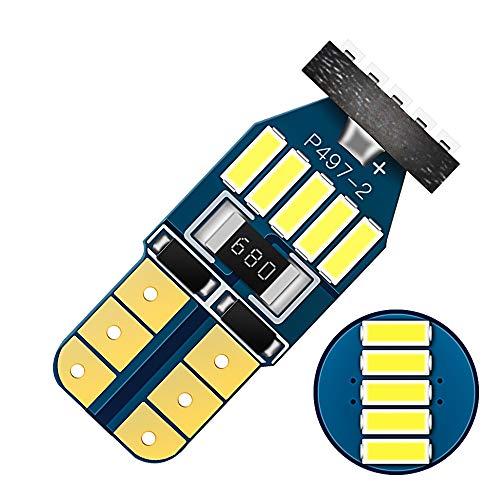 Wljh 2 pcs de voiture ampoules LED T10 W5 W 194 168 4014 SMD 6000 K LED Canbus erreur gratuit pour marqueur côté Indicateur Lumière de plaque