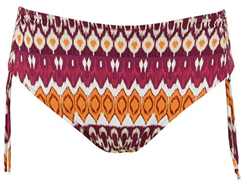 Red Point Beachwear, Mujer, Bikini Braga, Control graduable, Milna, Talla ESP: 44, Naranja/Granate