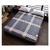 FENGFENG Colchón de futón, colchón de futón de Tatami japonés de algodón, Almohadilla de colchón Plegable, Cubierta de colchón Suave, Protector de colchón de Espuma viscoelástica de Alta resiliencia