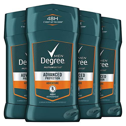 4x 76g Degree Men Invisible AntiPerspirant & Deodorant, Adventure (Herren Deo)