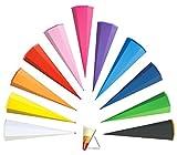 alles meine.de GmbH Schultüte   Rohling   einfarbig / Bastelschultüte   kräftiges BLAU   50 cm   rund   OHNE Tüll Abschluß   mit / ohne Kunststoffspitze ___ Zuckertüte ALLE Größe..