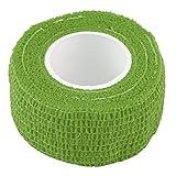 Recién Llegado 2.5cm * 4.5m Vendaje Autoadhesivo Envuelve Cinta Adhesiva elástica de Primeros Auxilios Estiramiento 5cm Verde