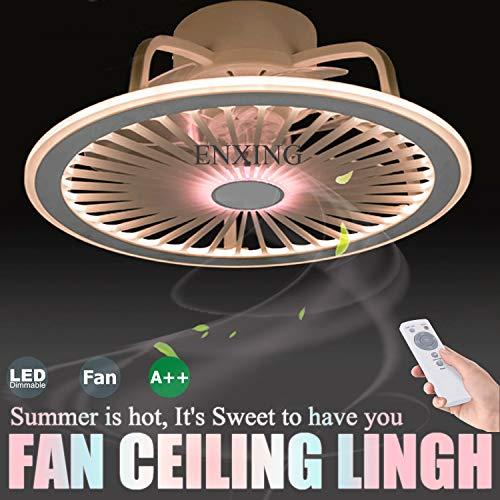 LED Fan Deckenlampe Leise Deckenventilatoren Fan Deckenleuchte Mit Beleuchtung App-Steuerung Und Fernbedienung Dimmbarer Ventilator Kronleuchter Für Schlafzimmer Wohnzimmer Kinderzimmer