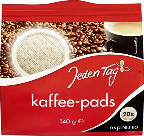 Jeden Tag 20 Kaffeepads Espresso, 140 g