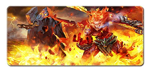 Mouse Pads,3D anime mouse pad, game oversized mouse pad, keyboard pad, table mat, precise positioning, hell fire, golden goku@70 * 30CM
