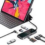 VANMASS Full-Scene Aluminum-Glass Slim USB C Hub with 4K Ultra HD HDMI, Hyper Speed 3X USB 3.1 Gen1 Ports & TF/SD 3.0 Card Slots, Fast PD Charging, for MacBook, Type C Laptop, iPad Pro & More