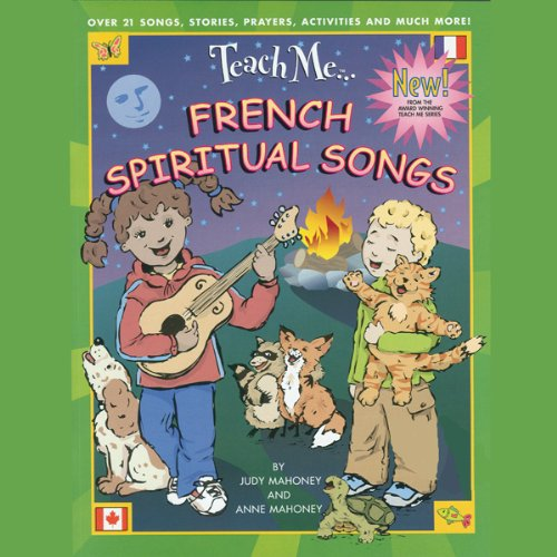 Teach Me French Spiritual Songs audiobook cover art
