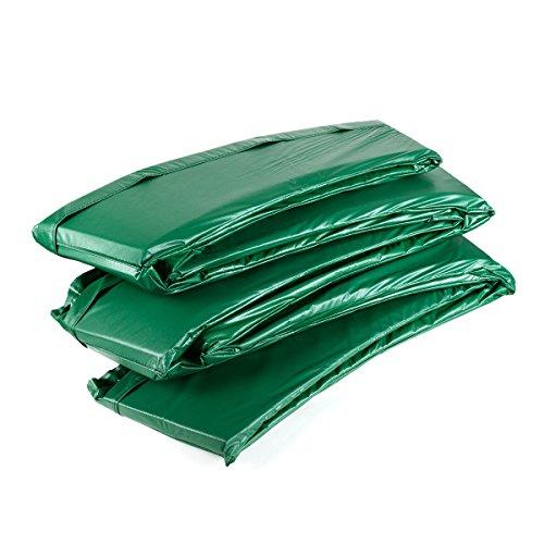 Ampel 24 Deluxe trampoline randafdekking, passend voor trampoline Ø 244 cm, scheurbestendige veerafdekking en groene UV-bestendige beschermrand, maximale bescherming door dubbele dikte