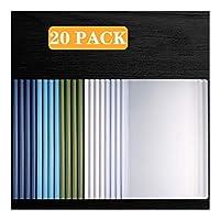 ビジネスクリップボード 20パックスライドバーをクリアレポートカバー、A4サイズ用紙(60シート容量)のための透明再開プレゼンテーションファイルフォルダーオーガナイザーバインダー 事務用品 (Color : C)
