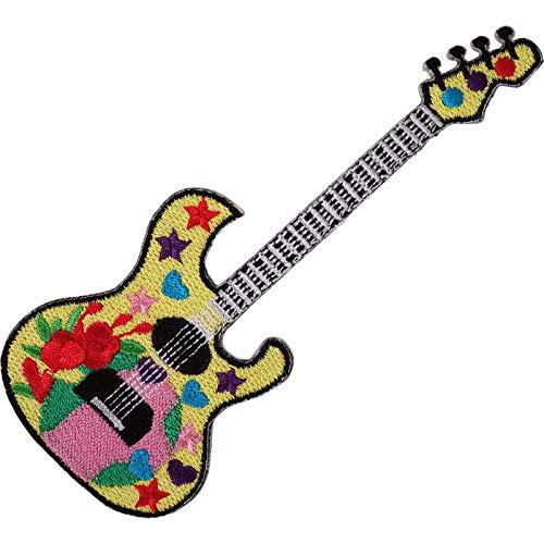 Parche bordado para planchar o coser con diseño de guitarra eléctrica, color...