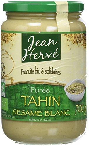 Jean Hervé Purée de Sésame Blanc Purée Tahin Biologique Format, 700 g