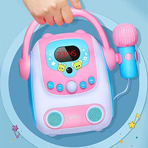 ABCSS Sonajero; máquina de Canto para niños con micrófono,Juguetes para bebés,Mini Reproductor fonográfico,Bluetooth inalámbrico,reproducción de grabación