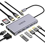 uoeos USB C Hub, USB C Docking Station, 12 in 1...
