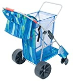 Rio Brands Deluxe Wonder Wheeler Wide, Blue Print