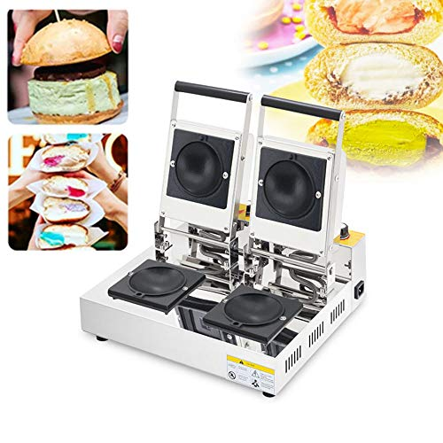 Commercial Donut Ice Cream Krapfen Warmer Burger Machine Italy Gelato Panini Press Sandwich Maker Electric Gelato Doughnut Pan (110V)