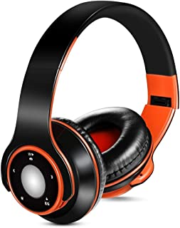 TOOGOO Wireless Bluetooth 4.0 + EDR Headphones, Over-Ear Stereo Music Foldable Wired Headset with Mic Tf Card Fm Radio