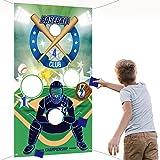 Jeux de Lancement de Baseball avec 3 Sacs d'Haricot, Jeu Extérieur Intérieur Amusant pour Enfants et Adultes Décorations et Fournitures de Fête à Thème de Sport