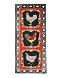 Carpet Runners Runner Rugs Rug Runners Washable Rugs Claire Murray Rugs Roosters 2.5ft x 5.75ft