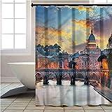 Aishare Store - Juego de cortinas de ducha con vista de Italia del Vaticano Roma, accesorios de baño, decoración de 70 pulgadas de largo