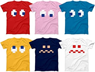 Pac-Enimies Ghost 8-bit Retro Video Games Character 90s Gaming For Man Matching Group Customized Handmade T-Shirt Hoodie/Long Sleeve/Tank Top/Sweatshirt