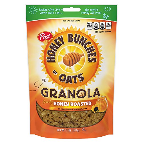 Post Honey Bunches of Oats Honey Roasted Granola, 11 oz, 6Count