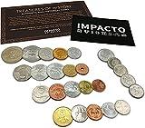 IMPACTO COLECCIONABLES Monedas - Colección de Monedas - 25 Monedas mundiales de 25 países Diferentes
