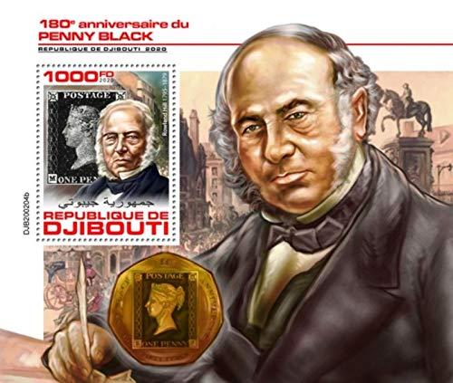 WD07/01/21-Djibouti - 2020 Penny Black Queen Victoria - Stamp Souvenir Sheet - DJB200204b