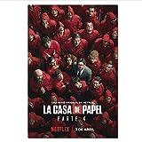 La Casa De Papel Poster Prints 2020 Movie TV Season 4 Money Heist Wall Art Pictures House of Paper Canvas Posters 50 × 70Cm Sin Marco