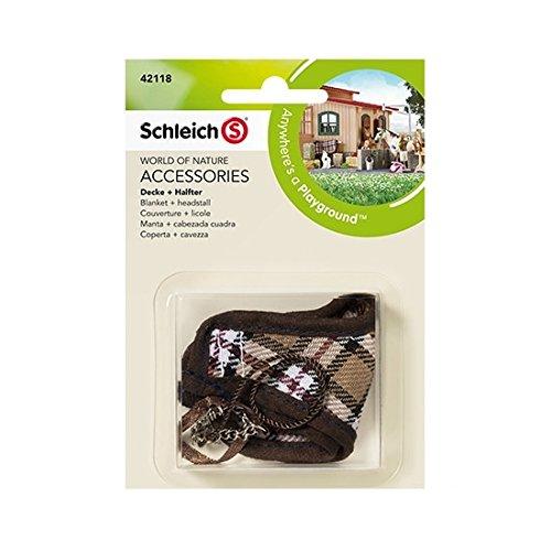 Schleich - Manta y cabezada cuadra, Set de Accesorios (42118