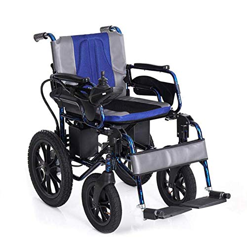 ZXMDP aluminium rolstoel, licht, inklapbaar, geschikt voor rolstoel, transit reizen, chairfor, 12 Ah dubbele Li-Ion batterij