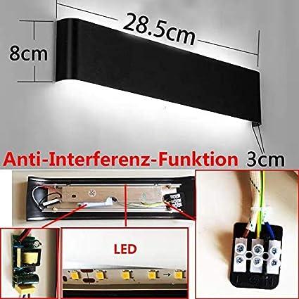 - 265 V CA Mode agr/éable lumi/ère dambiance Parfait pour lampe de d/écoration pour xiajia 12 W LED lampe de Mur Int/érieur longueur 30 cm moderne appliques de Mur Blanc chaud