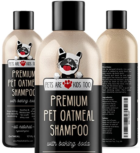 Pet Oatmeal Anti-Itch Shampoo & Conditioner In One! Smelly Puppy Dog & Cat Wash.