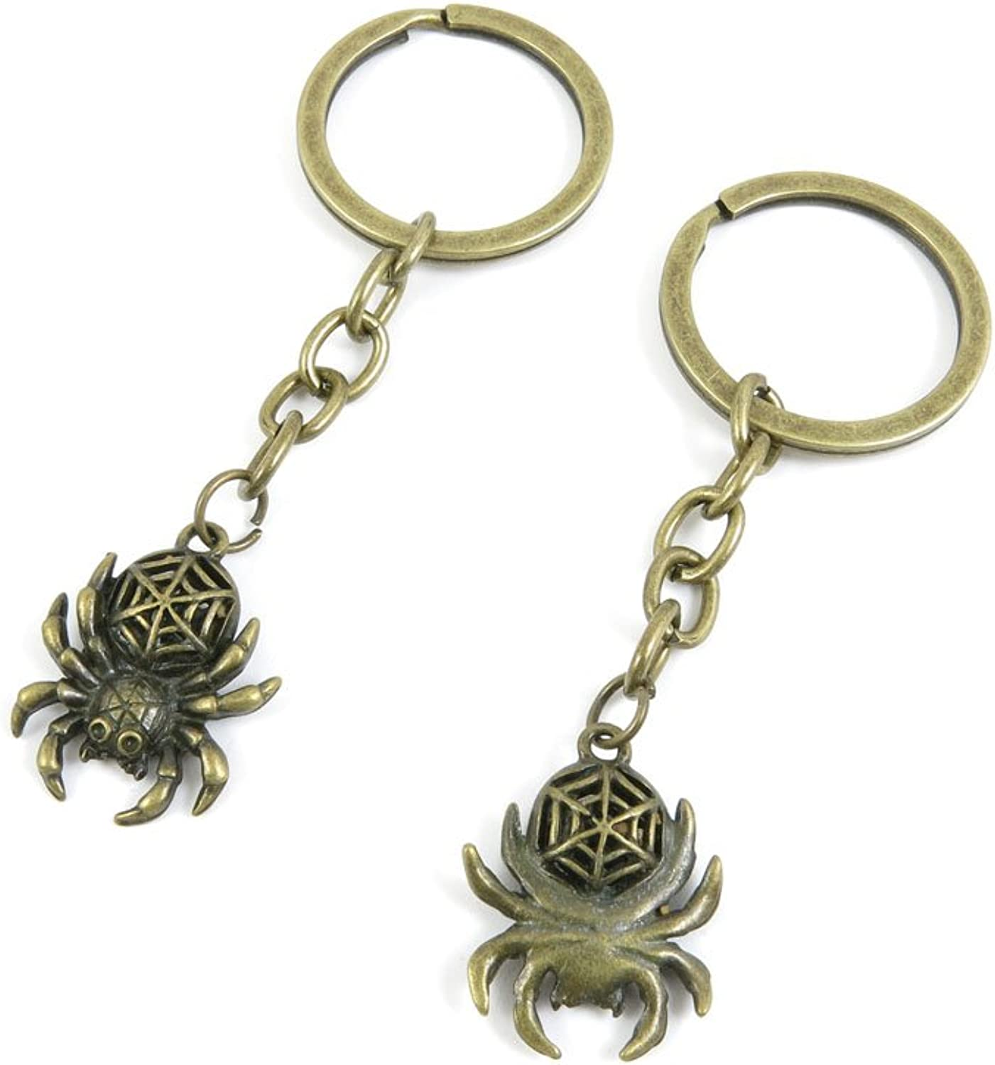 120 Pieces Fashion Jewelry Keyring Keychain Door Car Key Tag Ring Chain Supplier Supply Wholesale Bulk Lots V8PK4 Hollow Spider