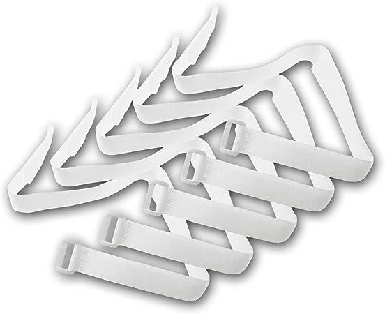 Kabelbinder Klettband Klettverschluss Mit Öse 50cm Lang 2cm Breit I Sicheres Verstauen Von Kabel Und Leitungen I 5er Pack Weiß Baumarkt