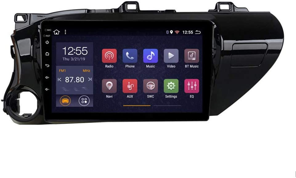 Foof Car Navigation Stereo 10.1 Inch Screen for Toyota Hilux 2016-2018 Entertainment Multimedia Radio,WiFi/BT Tethering Internet,Support Steering Wheel Control Full Touch 1024X600 (Octa Core)