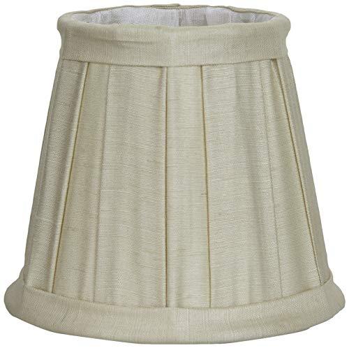 Better & Best Pantalla de lámpara de seda, con pinza de sujeción para bombillas tipo vela, tabla ancha, de 12 cm, color verde claro