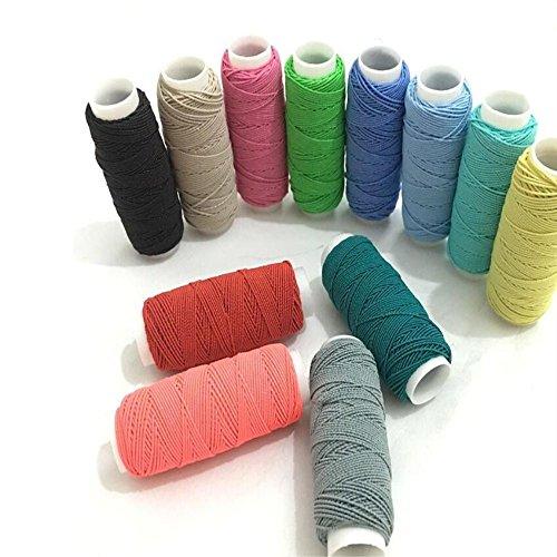 FQTANJU 12 pcs Round Shirring Elastic Craft cord